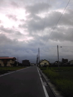 雨の前に散歩 ε=ε=┏( ・_・)┛